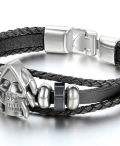 LEATHER BRACELET SKULL ACE OF SPADES2