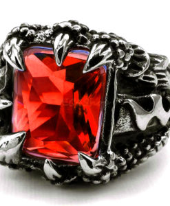 ANILLO CRYSTAL RED CLAWN12