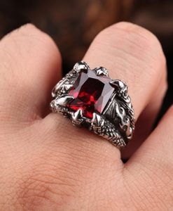 ANILLO CRYSTAL RED CLAWN46