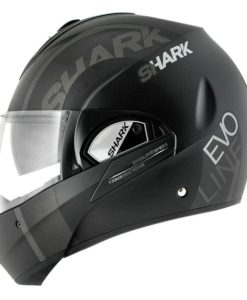 CASCO SHARK EVOLINE 3 DROP MAT NEGRO MATE1