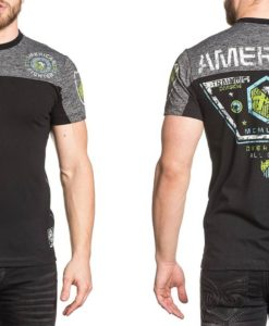 American-Fighter-Mens-Ryder-Reflective-Tee-Shirt-Black-3